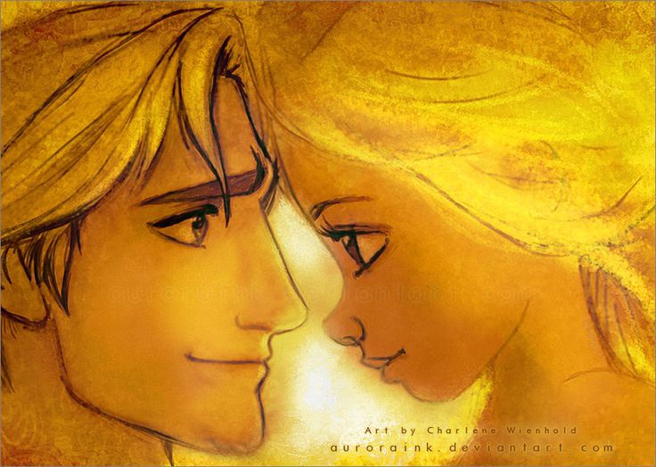 Rapunzel and Flynn Rider - love this movie! and the painting is awesome(: