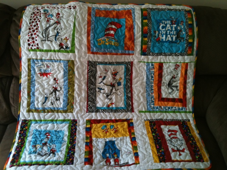 Dr Seuss baby quilt. Not the best picture