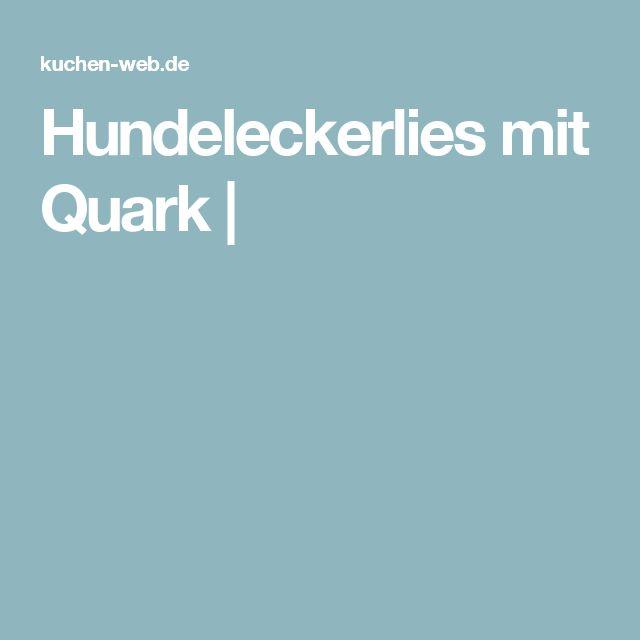 Hundeleckerlies mit Quark  