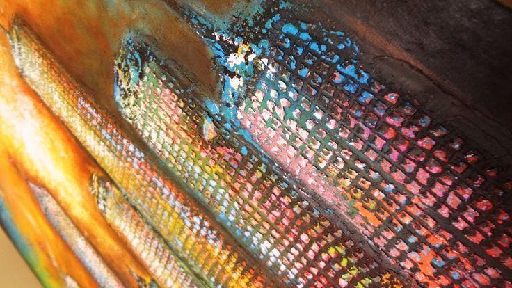 """Cuadro en Óleo. """"Ciudad Abstracta II """" Abstracto y textura. Un resumen del Arte en mi vida... Visítame también en mi Portafolio: http://diancassa.wix.com/dia..."""