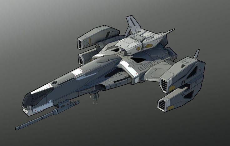 3 crew 'Lancer' ship | Atlas Initiative | Spaceship ...