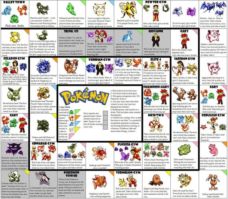 The ULTIMATE Pokemon Drinking Game : gaming