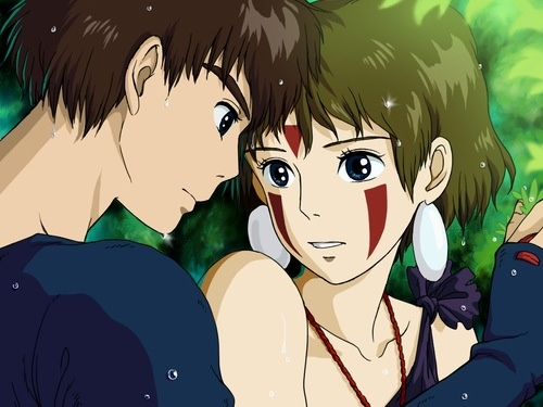 Found this while doing some google searching!!! Ashitaka and San are such a cute anime couple <3 @princessmononoke
