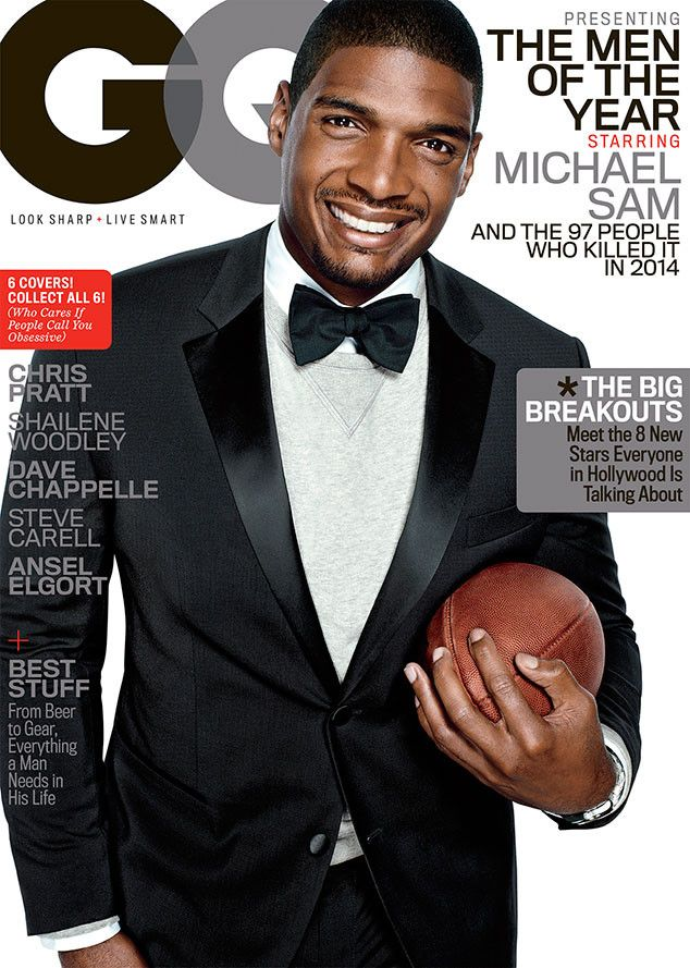 Michael Sam Looks Dashing While Holding Football on GQ Cover, Talks Childhood and Evil Brothers | E! Online Mobile
