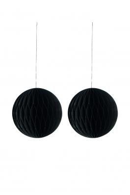 Små sorte papirsbolde