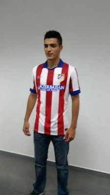 Raul in his new Atletico Madrid jersey