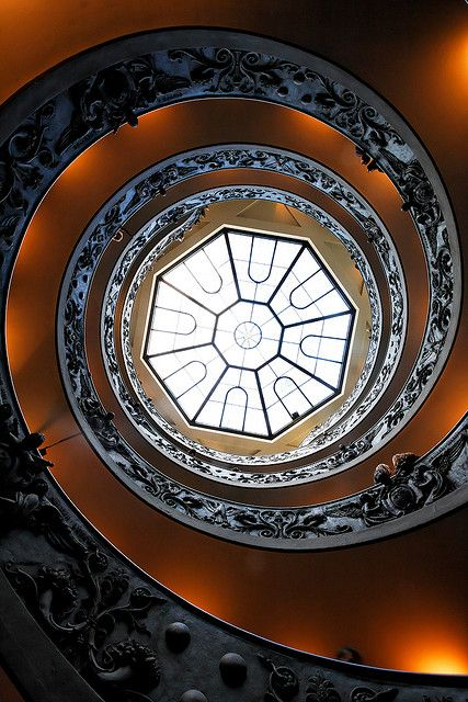 Vatican Museum staircase ~Candlearbrum Gallery by Sebastien Kuper.