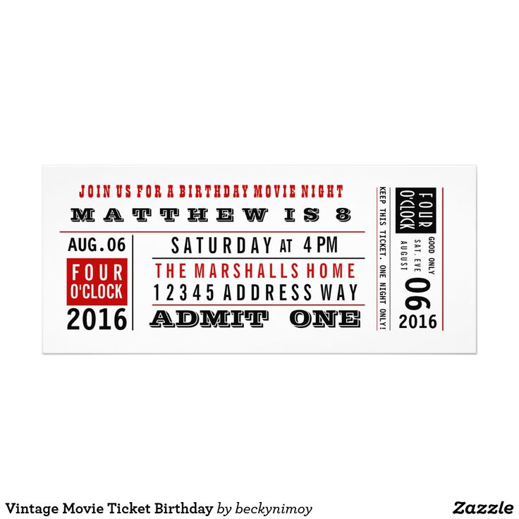 17 best Birthday images on Pinterest Birthday invitations - admit one ticket template