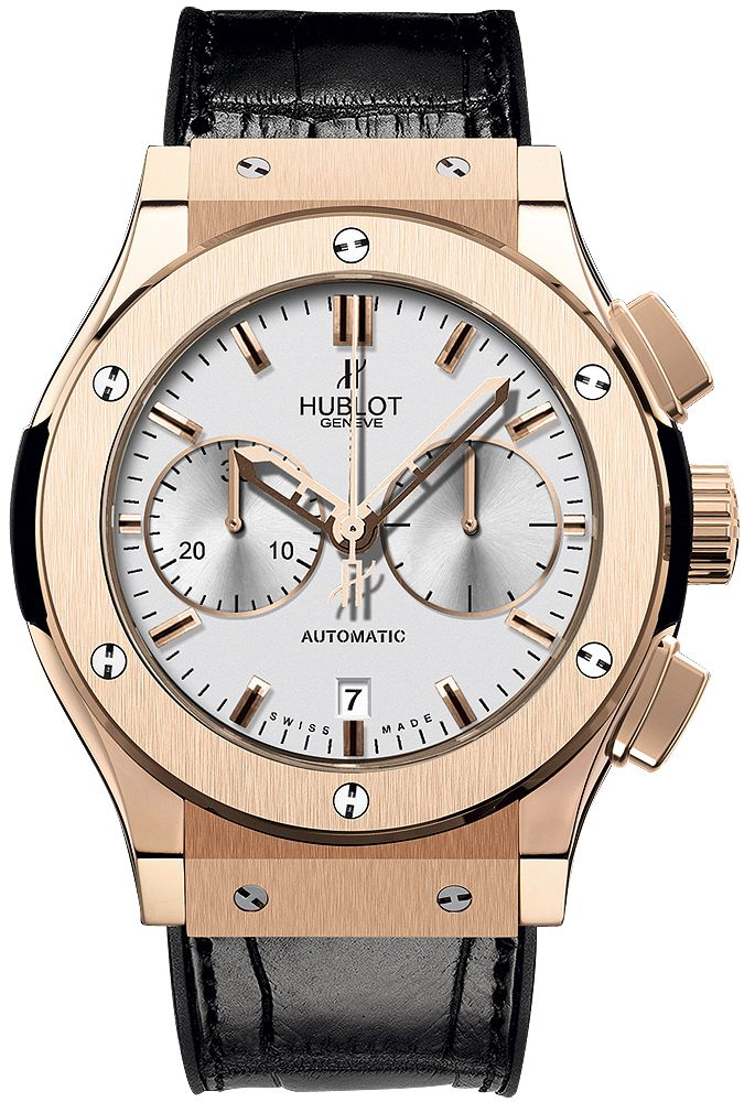 521.OX.2610.LR  HUBLOT CLASSIC FUSION CHRONOGRAPH  KING GOLD OPALIN 45MM WATCH