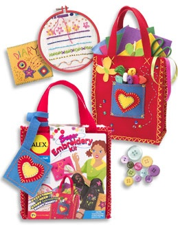 Kids Craft Kits - Arts and Crafts for Kids - Alex Toys » Super Embroidery Kit