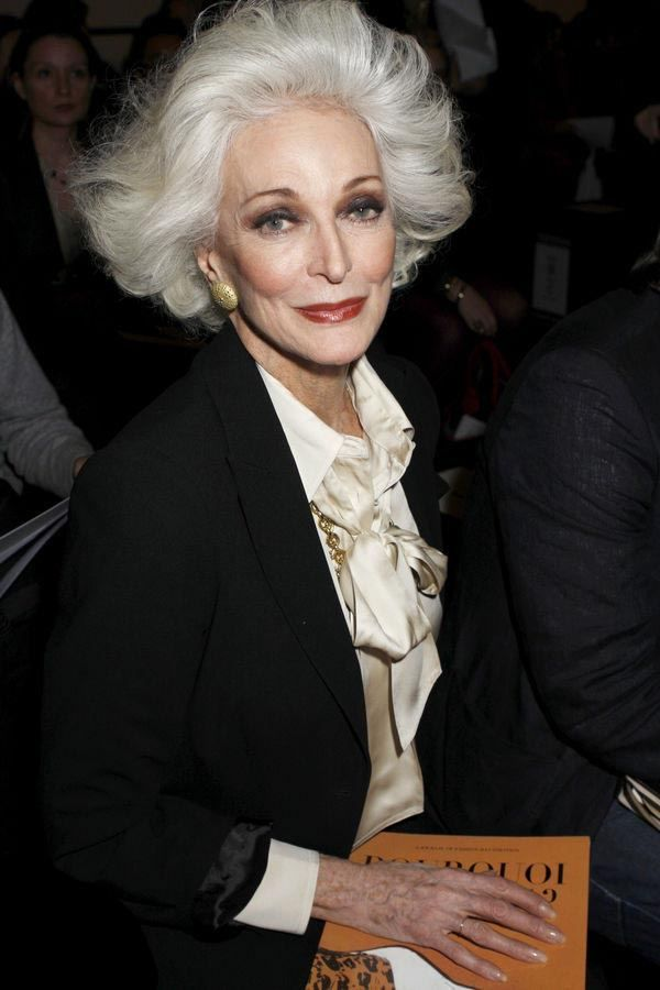 Carmen Dell'Orefice--the world's oldest working model (hint: she's 81). I hope I look this amazing when I am her age!