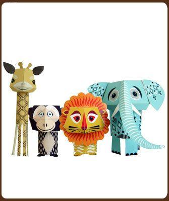 Klein Design Hoorn   Mibo: knutselset dieren 3D  9.95