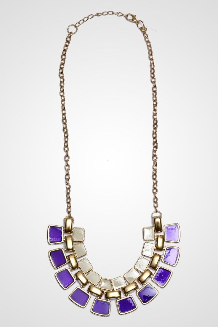 daisyline - The Aster Necklace in purple