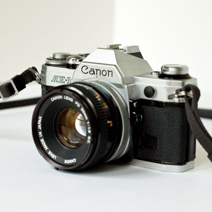 35Mm Camera   1980s Canon AE1 35mm SLR camera with 50mm f18 lens by newamsterdam