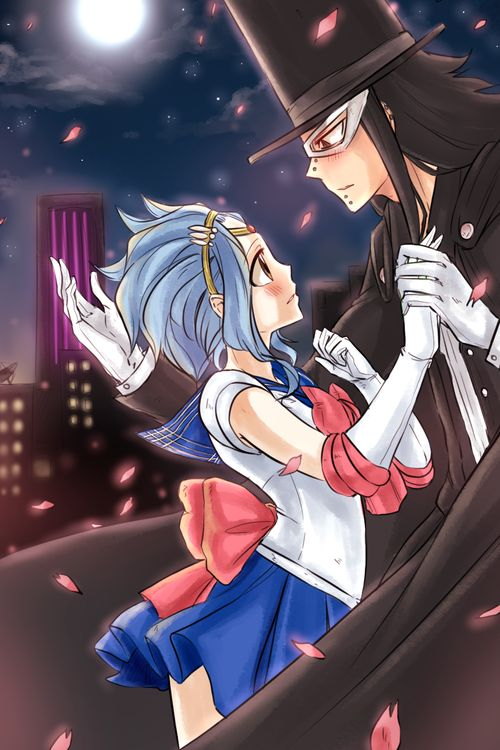 WHAT? ...This is actually kind of accurate, though I think having Gruvia as Sailor Moon and Tuxedo Mask fits a little better. :)