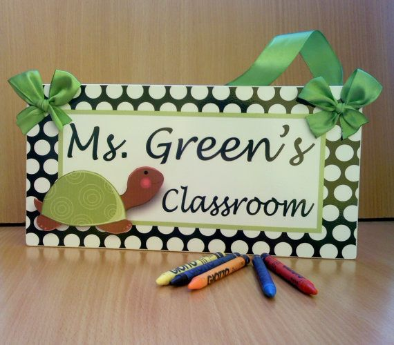 personalized teacher name classroom door sign white by kasefazem, $15.99 #EtsyEurope #PTteamEtsy #christmasgift