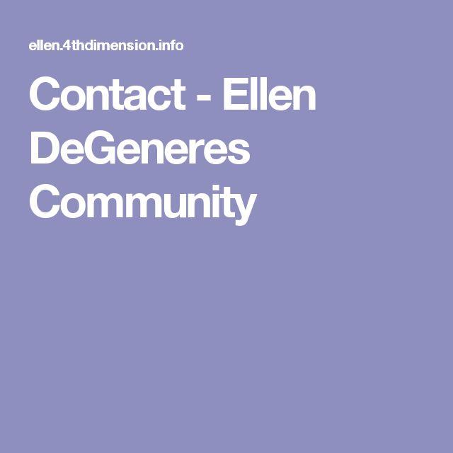 Contact - Ellen DeGeneres Community