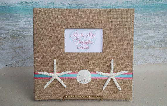 Starfish Scrapbook or Photo Album 12x12 Wedding by ParadiseBridal