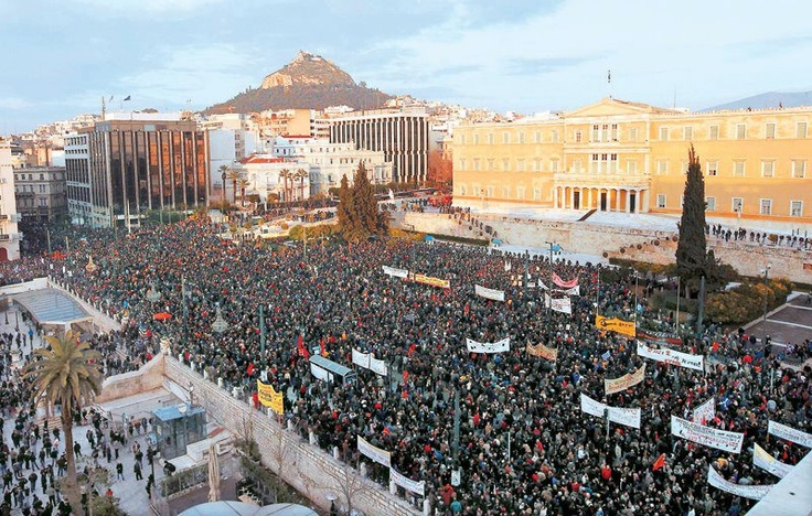 Athens February 12th,2012   Peaceful gatherings against austerity measures