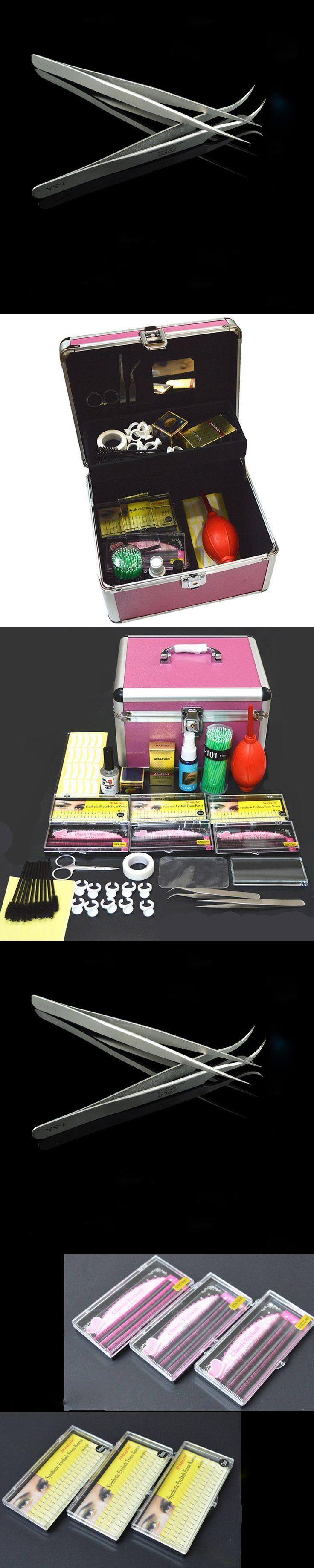 1 Set Professional Portable Eyelashes Extension Kit Beauty Grafting Eyelash with Box Case for Beauty Salon Makeup