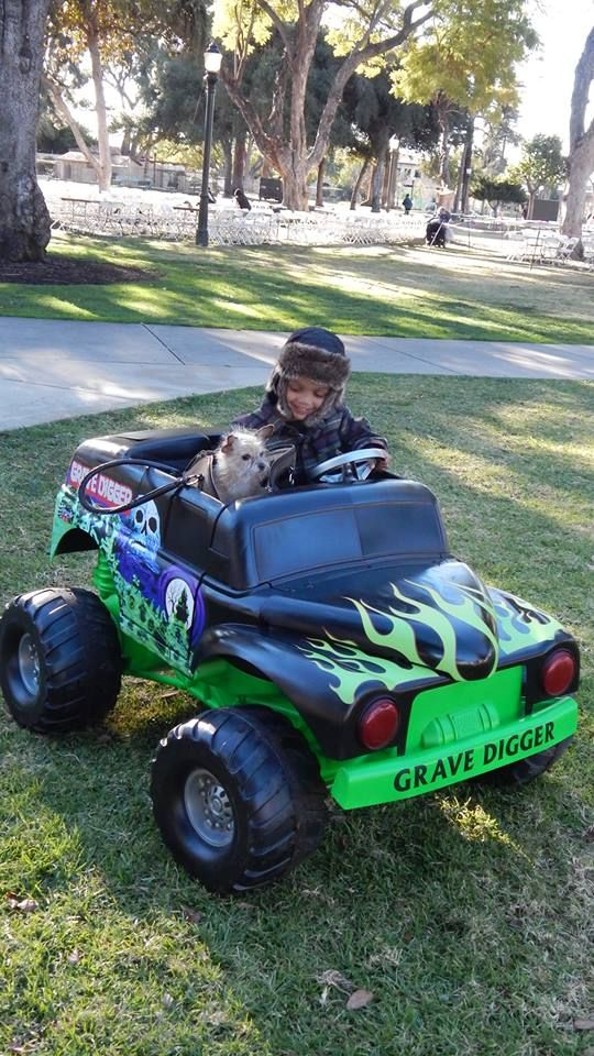 restored power wheels grave digger.....pinterest level:  easy.  And by easy i mean, took 3 months and a graphic designer.