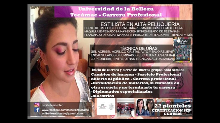 salon de belleza Tecámac https://www.facebook.com/tecbellezatecateo Cel y WhatsApp: 5575430104 unibellezatecateo@gmail.com https://www.webselitemx.com/escuel...
