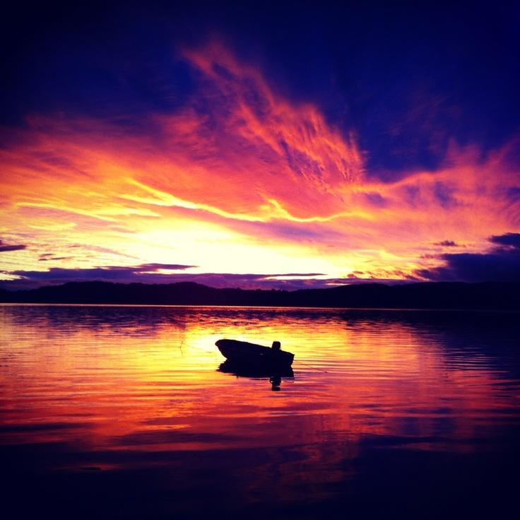 Sunset in kristiansand, norway
