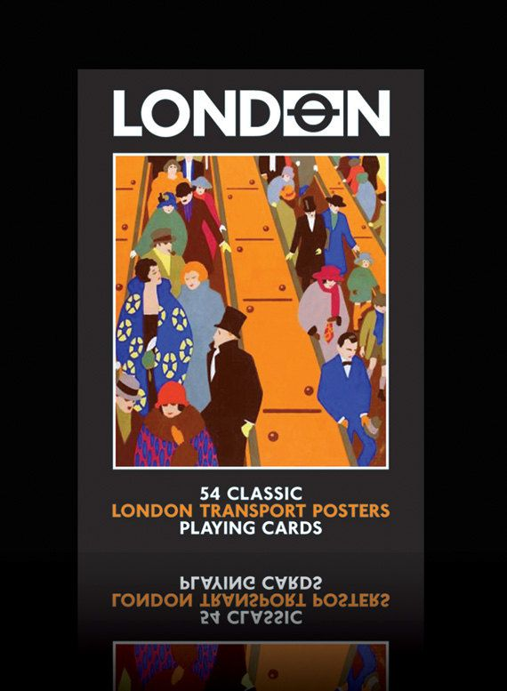 London Transport Posters playing cards by HotAndBothered on Etsy, £5.95