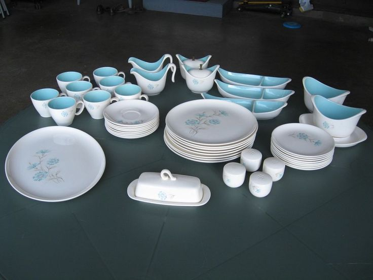 $250 - 51 Pc Taylor Smith Taylor Ever Yours Boutonniere Dinnerware Lot GC in Pottery & Glass, Pottery & China, China & Dinnerware | eBay