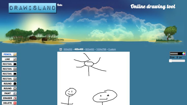 Create drawings and animations on Draw Island. Works on your iPad and on your desktop.