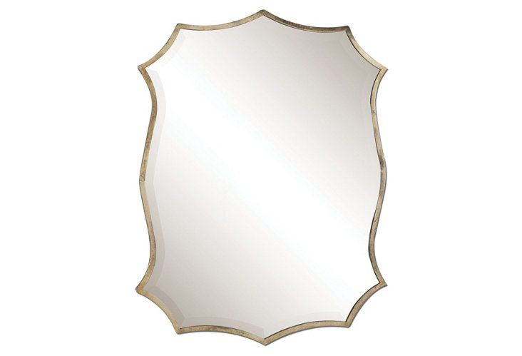 "Midcentury Mirror, Nickel OKL for $229 - 22"" x 30"""