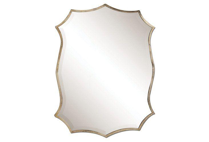 Midcentury Mirror, Nickel