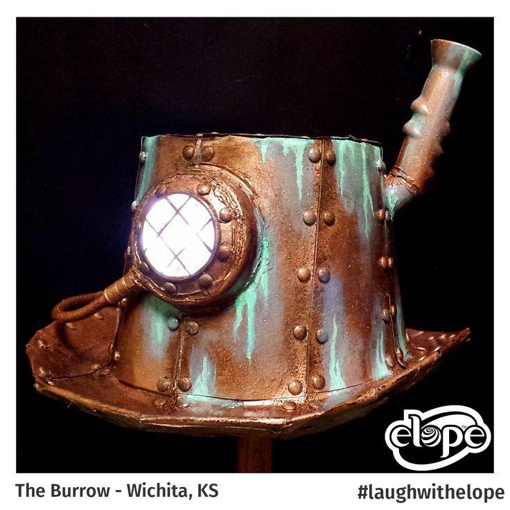 """Steampunk Diver's Helmet"" by Steven Wilson The Burrow - Wichita, KS  Vote for this hat: http://woobox.com/27q2tb"