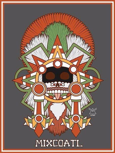 Mixcoatl, Aztec god, by Jonathon Schobert on Behance.