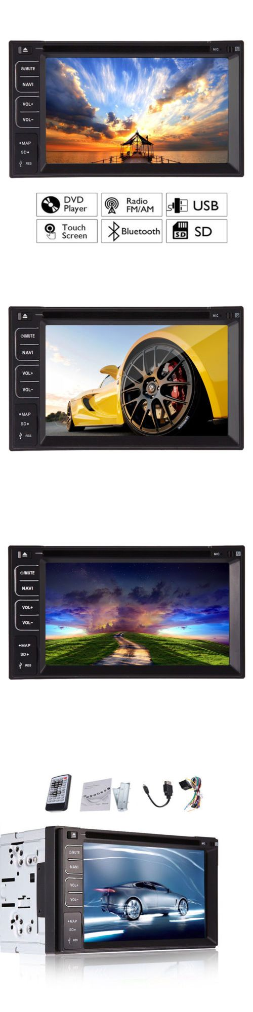 Vehicle Electronics And GPS: Touchscreen 2 Din 7 Car Stereo Dvd Cd Mp3 Player Hd In Dash Bluetooth Radio Usb -> BUY IT NOW ONLY: $114.9 on eBay!