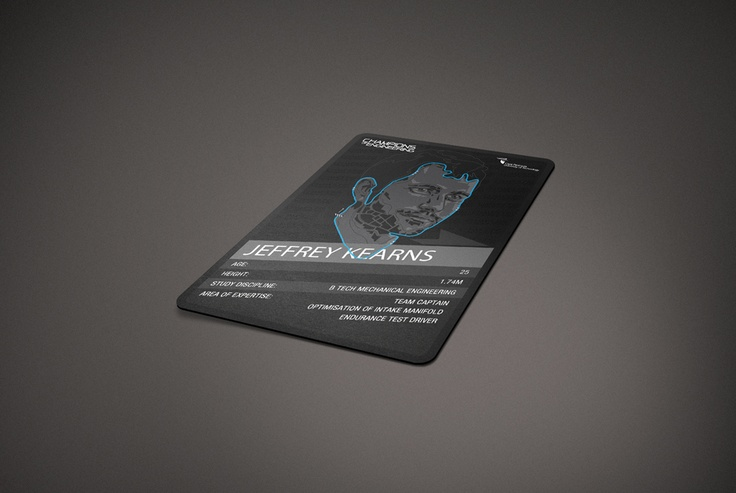 Trading card design for CPUT Champions of Engineering Campaign