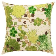 Adam & Viktoria Niwa Green and Brown Pillow LF23Adam, Green And Brown, Pillows Talk, Viktoria Niwa, Niwa Green, Pillows Lf23, Pillows 179, Brown Pillows, Blossoms Pillows