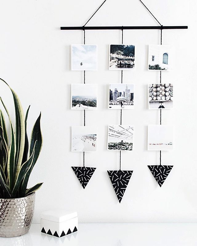 Finally printed some Instagrams with @snapboxprints and it is SWELL . Made this simple wall hanging to display them on- that tutorial is on the blog today! homeyohmy.com #homeyohmy