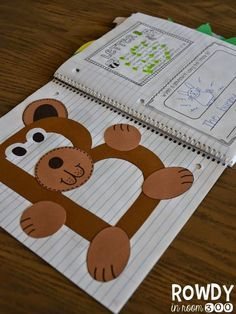 Love this super cute interactive alphabet notebook!