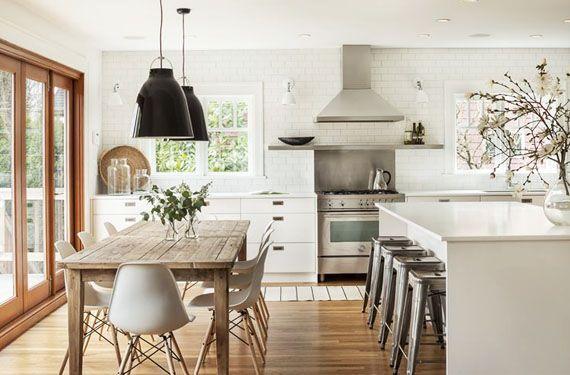 Cocina blanca madera 570 375 inspiration - Cocina blanca encimera madera ...