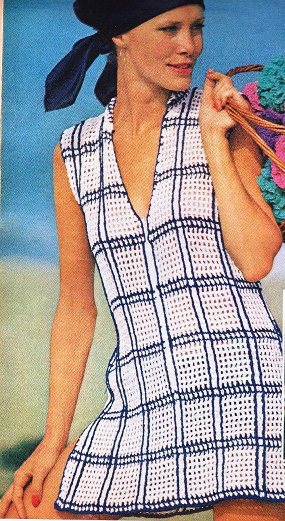 Crochet Tunic Top Pattern Zip up Coverup Beach by SassyloveCrochet