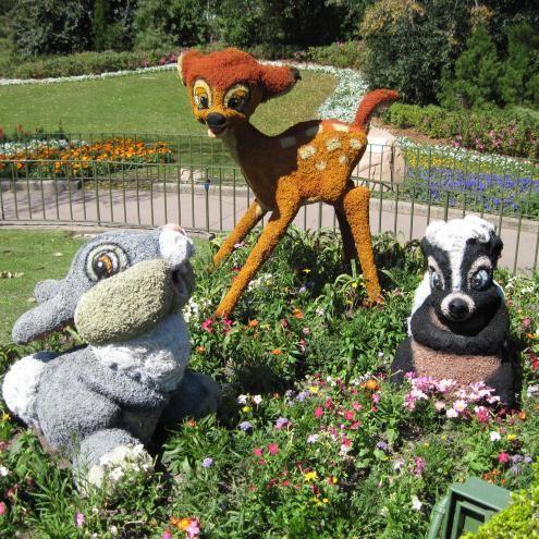 Bambi + Thumper + Flower Topiary, International Flower  Garden Festival, EPCOT