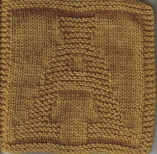 Knitted Dishcloth Pattern With Letters : Knit alphabet squares, A to Z - good for a baby blanket ...