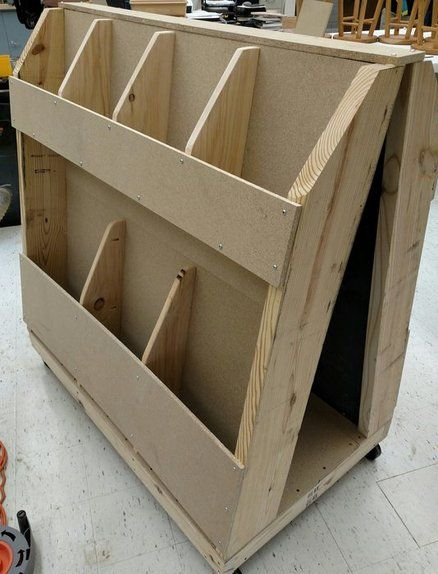 Mobile scrap cart lumber storage pinterest scrap for Mobile lumber storage rack plans