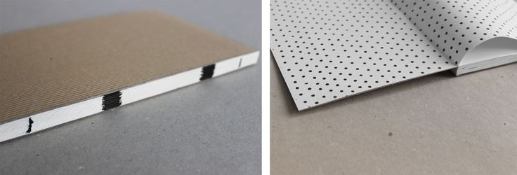 Handmade notebook. Made from eco alga paper and white corrugated board. Enjoy