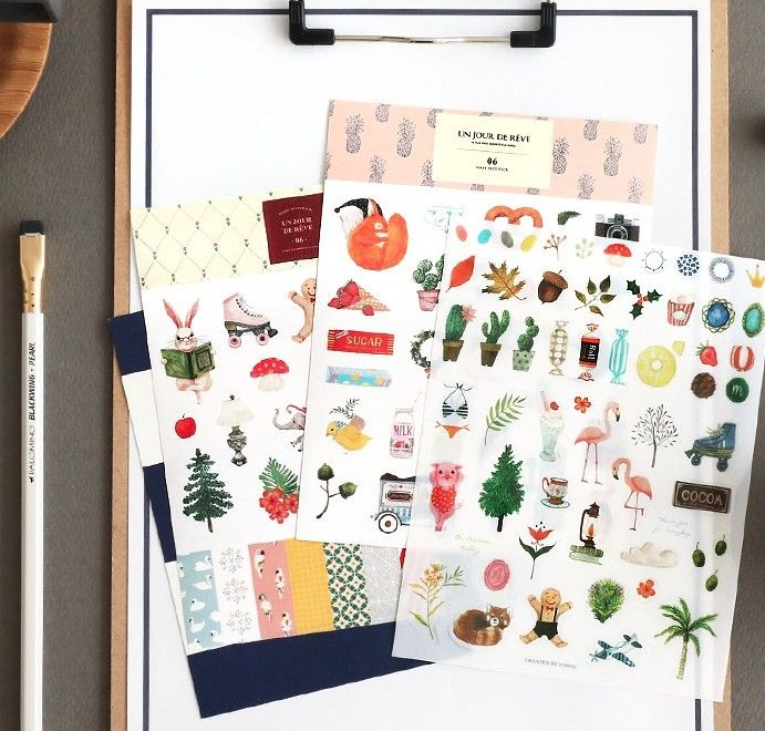 nest - Diary deco pack with stickers