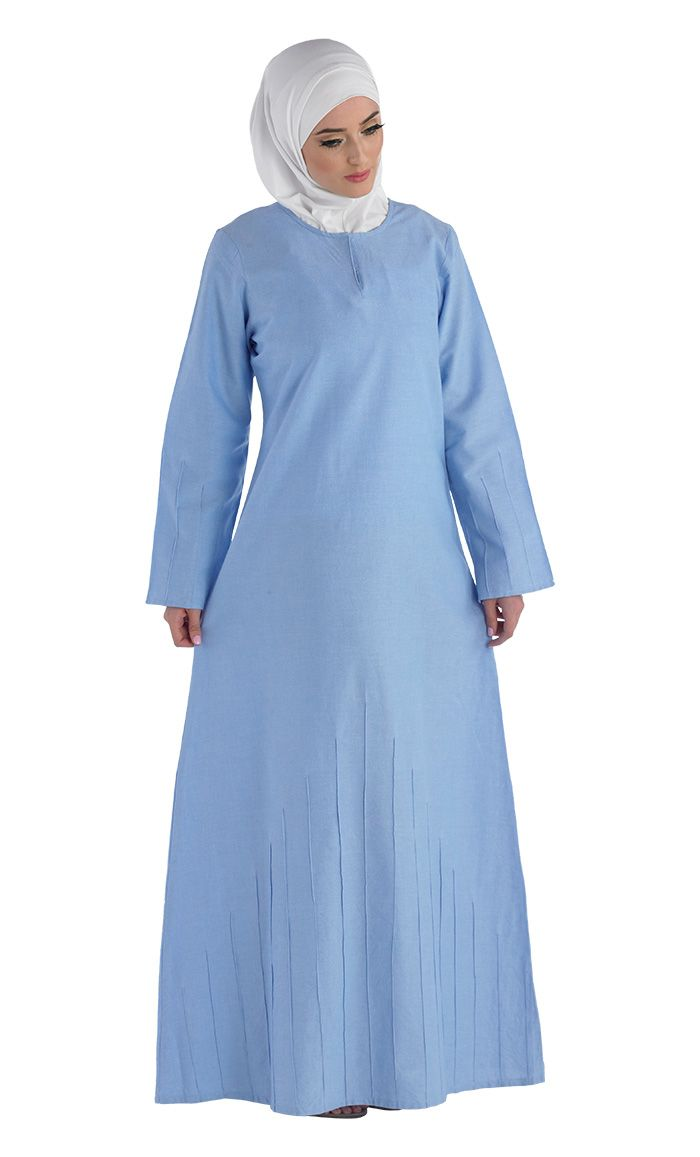 Chambray Baha Abaya is another great style for Hajj or Umrah. A simple, no fuss style sure to make your Hajj/Umrah trip comfortable.
