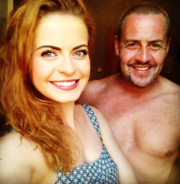 David pictured here with his West End star daughter Sophie Evans