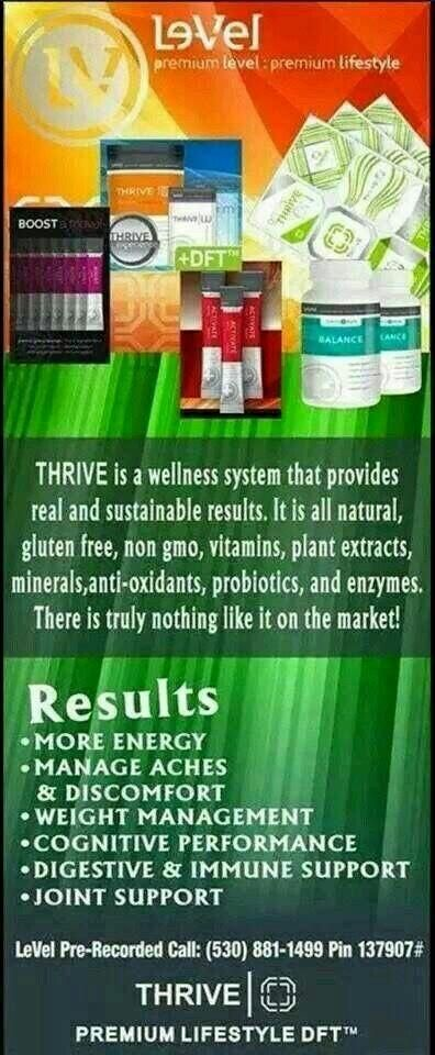 For Sale: Thrive - allishajones.le-vel.com. if you are interested in our products please visit my website.