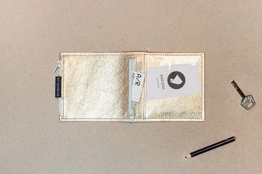 akcesoria różne-Pocket MINI / Gold - portfel ze skóry